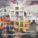 Amsterdam, huizen. Verschillende kleuren.