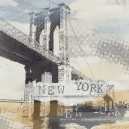 Brooklyn Bridge, lichte kleuren.