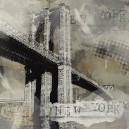 Brooklyn Bridge, donkere kleuren.