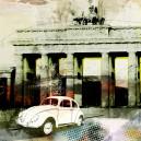 Brandenburger Tor, witte auto.